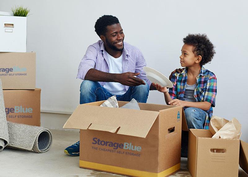 Self Storage Garfield - StorageBlue - Moving Boxes